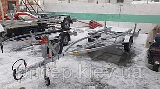 Причіп для човна Прогрес, Казанка, Южанка, Дельта, Вега. Рама - 5,3 м. Изломное дишло.