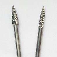 "Борфреза, тип ""G"", Заостренная парабола, диаметр  5 мм, хвостовик 3,0 мм"