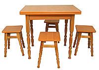 Комплект D3 (стол + 4 табурета) Richman