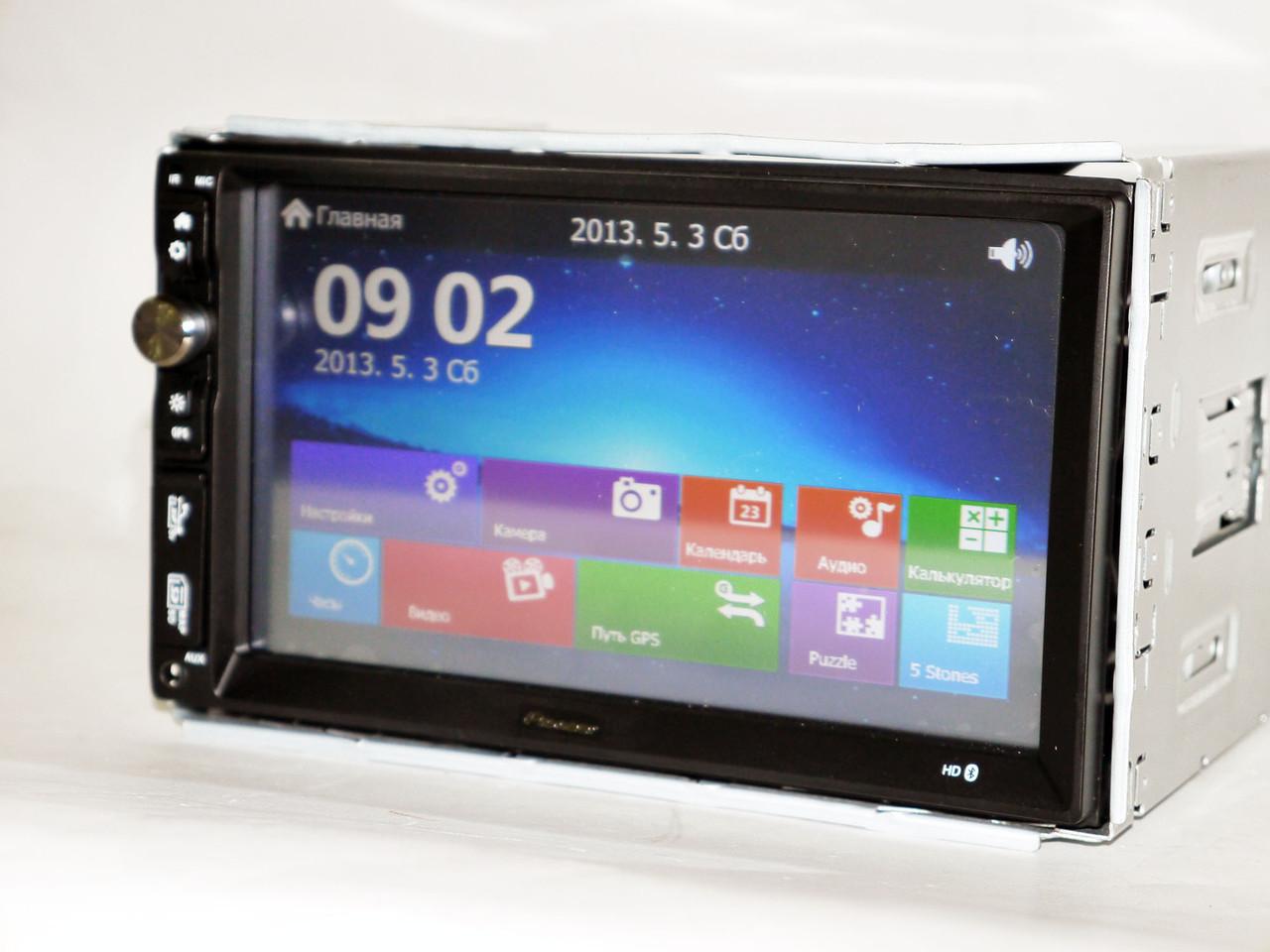 2din Магнитола Pioneer TS-6220 GPS+USB+SD+Bluetooth+TV