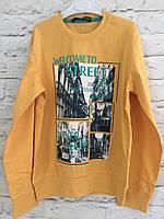 Джемпер желтый трикотажный для мальчиков 10-14 лет