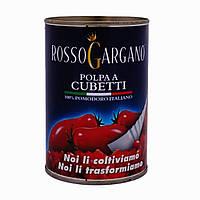 Rosso Gargano (Futuragri) Polpa a Cubetti - Томаты порезаны кубиками, 400g