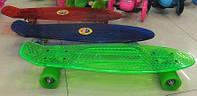 Скейт BT-YSB-0010 пластик. PU колеса 58мм 56,5*15,5см 4цв.