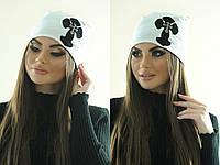 Женская шапка с крестом