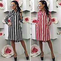 Арт.042 Платье - рубашка с карманами