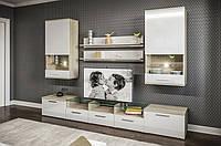 Гостинная Денвер, корпусная мебель в гостинную, стенка в гостинную в стиле Модерн