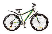 """Велосипед 26"""" Discovery TREK AM 14G Vbr рама-18"""" St черно-сине-зеленый с крылом Pl 2017"""