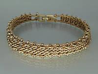 """Прекрасный браслет """"Афродита"""" с устойчивым покрытием золота."""