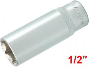 "YATO Головка торцева 6-гран. подовжена, з квадр. 1/2"", М=24 мм, L=76 мм,"