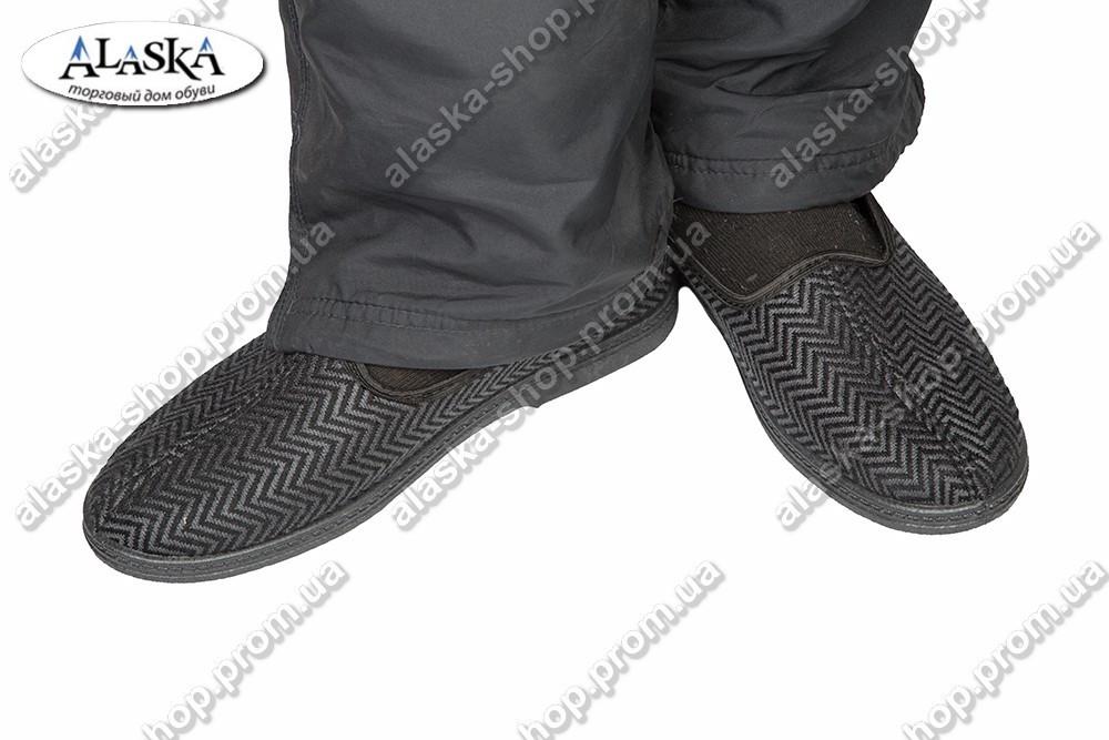 Тапки мужские серые (Код: ТК-301)