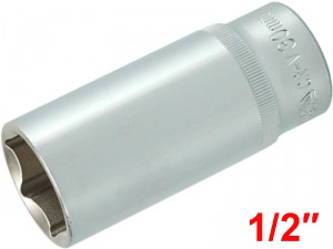 "YATO Головка торцева 6-гран. подовжена , з квадр. 1/2"", М=30 мм, L=76 мм,"