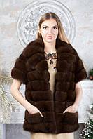 """Жилет из темной куницы """"Зета"""" canadian marten vest gilet, фото 1"""