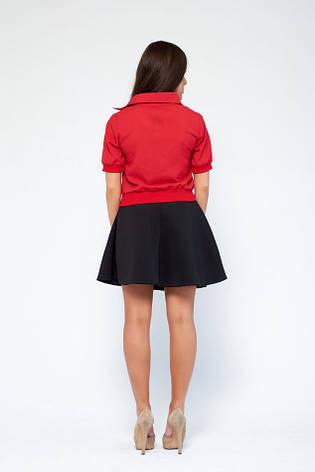 Летняя блузка женская Августа № 5 красная, фото 2