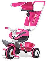 Велосипед трехколесный Baby Balade розовый Smoby 444207