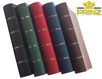 Альбом для марок Prinz - 64 страницы - А4 - черные листы - коричневая обложка