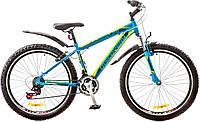 """Велосипед 26"""" Discovery TREK AM 14G Vbr рама-18"""" St сине-черно-зеленый (м) с крылом Pl 2017"""