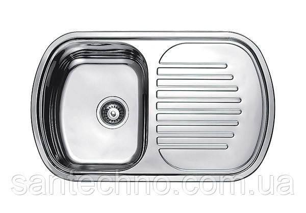 Кухонная раковина из нержавейки (Овальная с рабочей поверхностью) Fabiano 80х49