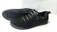 Мужские черные замшевые кроссовки. Украина.