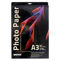 Папір Tecno A3 210g 50 pack Glossy, Premium Photo Paper CB (PG 210 A3 CP50)