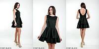 Красивое платье с двушаровой юбкой-BLACK
