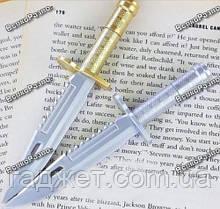 Ручка шариковая Нож с золотым колпачком., фото 3