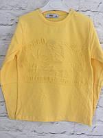 Батник, толстовка  желтая для мальчиков  110-128