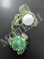 Магнит-подхват для штор Хрусталик цвет зеленый