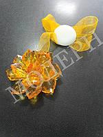 Магнит-подхват для штор Хрусталик цвет жёлтый