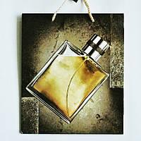 Подарочный пакет СРЕДНИЙ КВАДРАТ 21х25х8см Парфюм