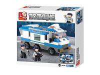 Детский конструктор SLUBAN полицейская машина 253 детали