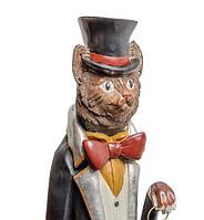 """Сувенирная статуэтка с часами """"Кот Сэр Томас"""" NS-154"""