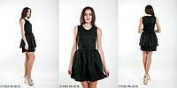 Коктейльное платье с двушаровой юбкой и V-образным вырезомBLACK