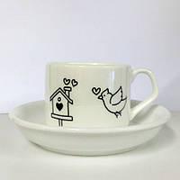 Чашка кофейная с блюдцем, фото 1