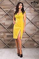 Изысканное и невероятно оригинальное женское платье-футляр Ева оливкового цвета