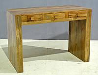 CONSOLE TABLE 3 DRAWER. Цвет натуральный. Столик консольный в стиле Лофт. Ручная работа. Сделано в Индии.