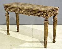 Консольный столик Coco. Цвет декоративная покраска. Консоль в стиле Прованс. Ручная работа. Сделано в Индии.
