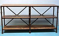 КОНСОЛЬ CONSOLE TABLE. Цвет натуральный. Стол консольный в стиле Лофт. Ручная работа. Сделано в Индии.