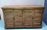 Комод Toto SIDEBOARD 4 дверцы. Цвет натуральный. Комод в стиле Прованс. Ручная работа. Сделано в Индии.