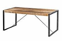 Стол DINING TABLE 1803. Натуральное дерево и металл. Винтажный Лофт. Ручная работа. Сделано в Индии.