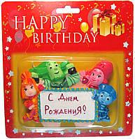 """Свеча для торта """"С Днем рождения"""" Фиксики"""