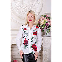 Блуза Роза белый
