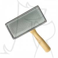 Пуходерка-сликер ARTERO деревянная рукоять и металлическая основа