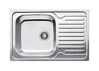 Большая прямоугольная мойка для кухни из нержавейки Fabiano 78х50