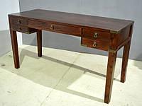 Столик консольный 5 ящичков. Цвет коньяк. В стиле Людовик. Ручная работа. Сделано в Индии.