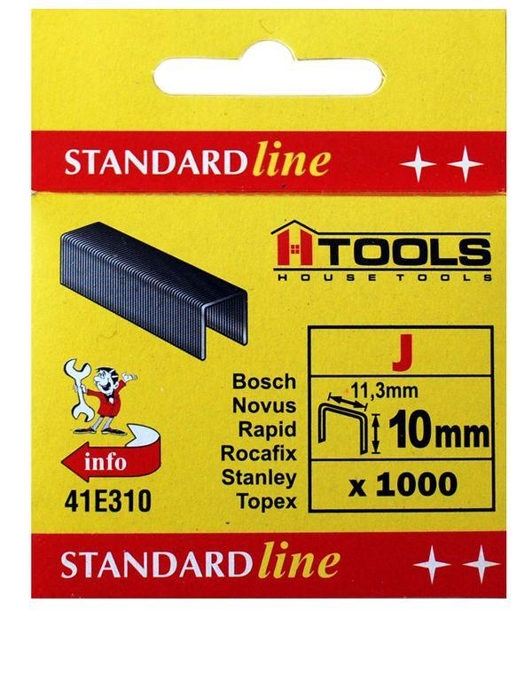 Скобы каленые тип J (1000 шт), 6 мм HTools, 41E306