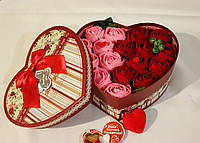 "Сердце с розами ""Две половинки"""