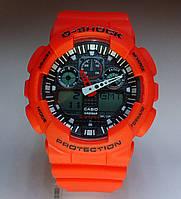 Часы наручные мужские CASIO G-SHOCK GA-100 5081 оранж