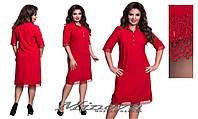 Платье женское нарядное ткань тиар украшено кружевом  размеры 50-56