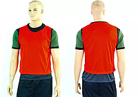Манишка (накидка) мужская односторонняя цельная (сетка) CO-3946-R (PL, р. 62х56,5см, красн)