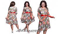 """Платье женское """"Диана"""" креп-шифон на трикотажной подкладке   размеры 48-54"""